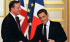 David Cameron with President Sarkozy