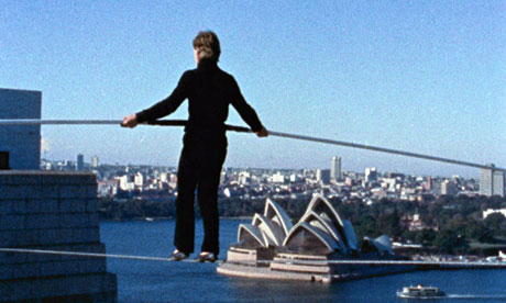 Philippe Petit in the film Man on Wire