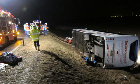 French coach crash