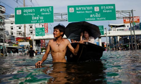 Flooding Ravages Provinces Threatening Bangkok