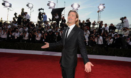 Brad Pitt arrives at the 18th Annual Screen Actors Guild Awards in Los Angeles, January 2012.