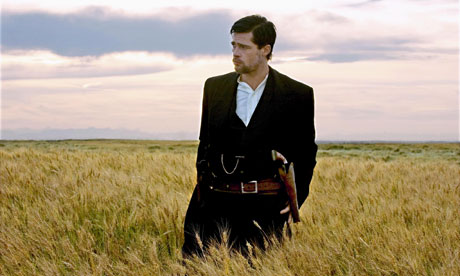 Pitt in The Assassination of Jesse James.