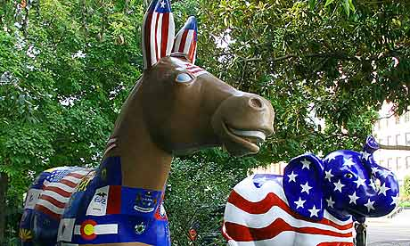 Democrat and Republican party symbols