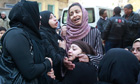 Relatives of those killed in Egypt football violence