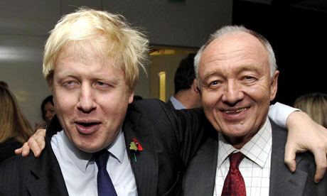 Mayor of London Boris Johnson (left) and Labour candidate for mayor Ken Livingstone