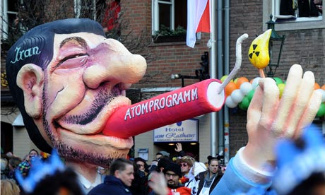 Float in Dusseldorf featuring Ahmadinejad