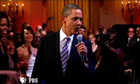 Barack Obama sings the blues song Sweet Home Chicago at the White House