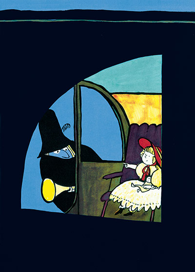 Tomi Ungerer: Illustration from Tomi Ungerer's The Three Robbers