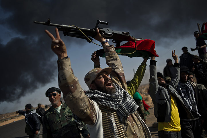 Remi Ochlik: The rebel forces fight Gaddafi's troops, Libya