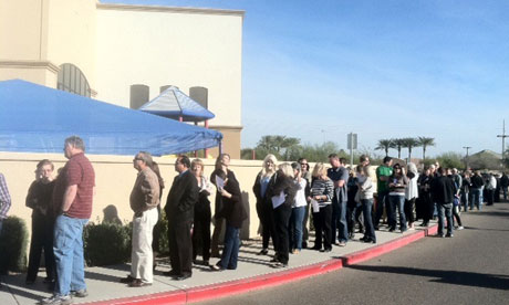Supporters of Mitt Romney in Pheonix, Arizona