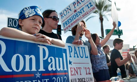 Ron Paul supporters at the CNN debate in Arizona