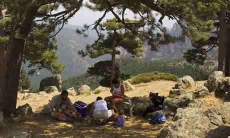 Corsica mountain pass