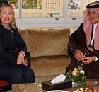 Hillary Clinton meets Saudi foreign minister Saud Al-Faisal 
