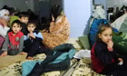Children trapped inside the bomb shelter in Homs, Syria
