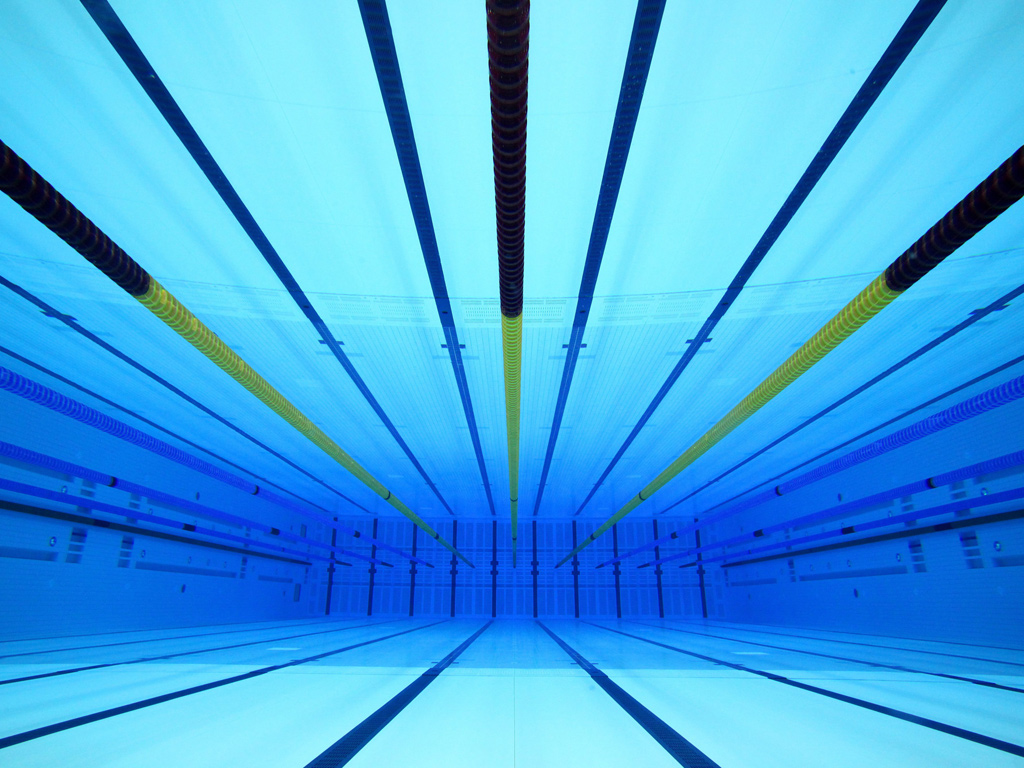 Eyewitness olympic aquatic centre world news the guardian - Olympic swimming pool ...