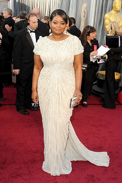 Oscars red carpet: Octavia Spencer, Best Actress nominee, in Tadashi Shoji