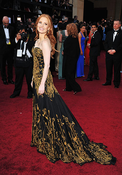 Oscars dresses: Jessica Chastain