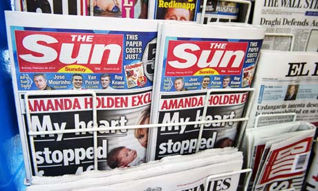 The first Sunday edition of the Sun