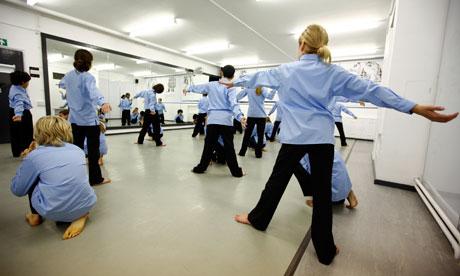 Dance class at a school