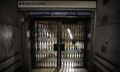 paddington tube station shut during strike