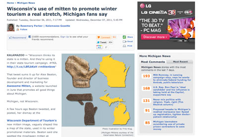 Mitten wars Michigan Wisconsin