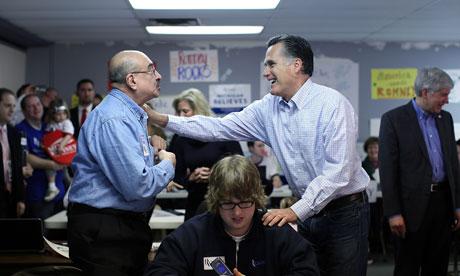 Mitt Romney campaigns In Michigan