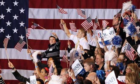 Mitt Romney supporters celebrate in Michigan