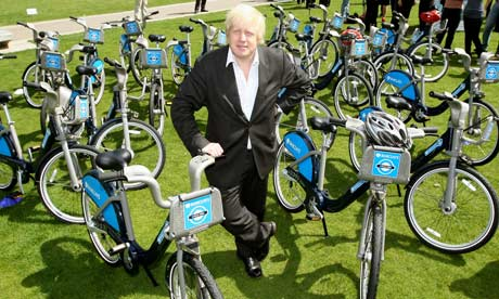 Boris Johnson and his 'Boris bikes'
