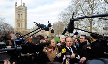 Francois Hollande at Westminster