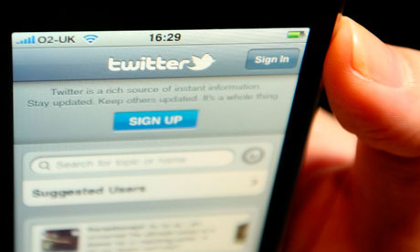 Twitter on a phone