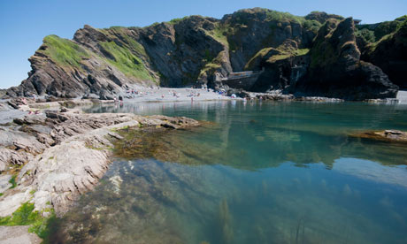 The Tunnels Beach and rock pool at Ilfracombe North Devon.. Image shot 2010. Exact date unknown.