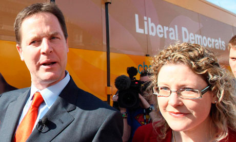 Nick Clegg and Jenny Willott