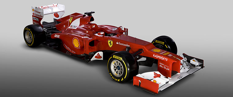 F1 Cars 2012: The Ferrari Formula One F2012 car