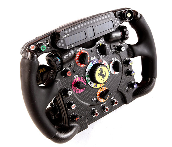 F1 Cars 2012: The steering wheel of the Ferrari F2012