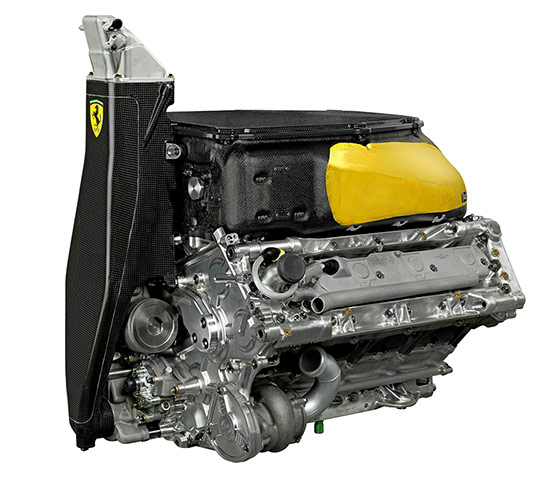 F1 Cars 2012: Handout image of the engine for the Ferrari F2012 car engine