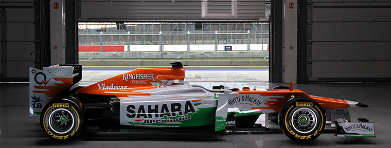 F1 Cars 2012: The Sahara Force India VJM05 during it's launch