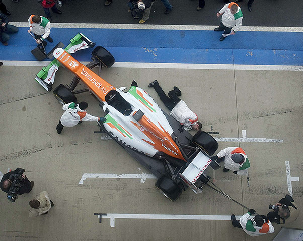 F1 Cars 2012: An overhead view of the Force India VJM05