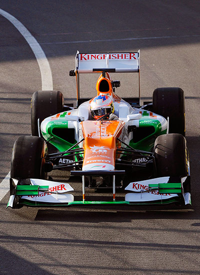 F1 Cars 2012: A front on view of the Force India VJM05