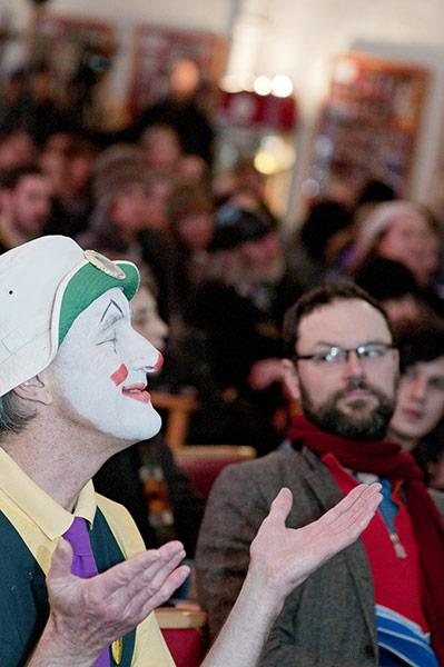 Grimaldi Day: clown at the church