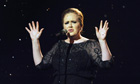 Adele at the Brits in 2011