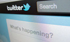 Detail of screenshot from Twitter internet website homepage