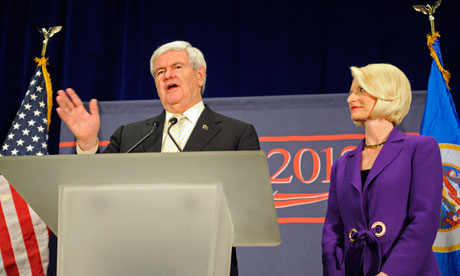Newt Gingrich campaigns in Minnesota