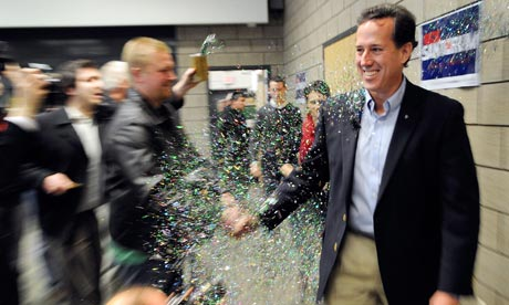 Rick Santorum campaigns in Minnesota