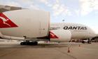 An A380 superjumbo belonging to Qantas