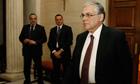 Loukas Papademos, the Greek prime minister, earlier today.