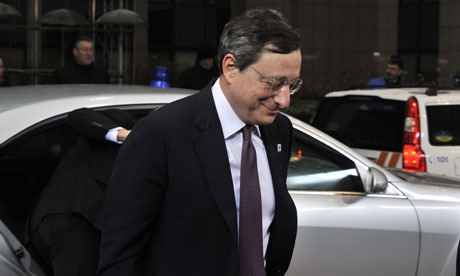 European Central Bank governor Mario Draghi