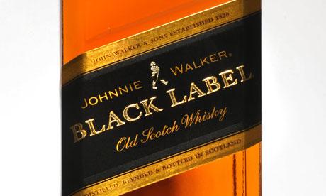 Johnnie Walker whisky bottle