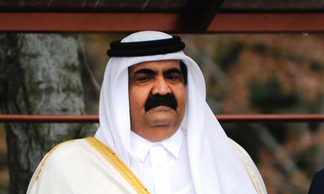 Sheikh Hamad bin Khalifa al-Thani, the emir of Qatar, last year pushed for the Arab League to suspend Syria.