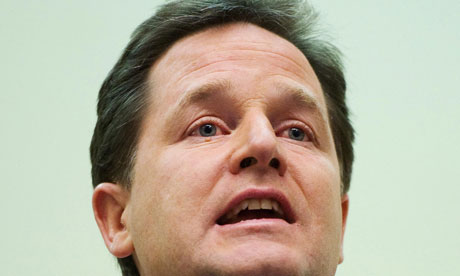 The Liberal Democrat leader, Nick Clegg, has called for the introduction of a 'tycoon tax'