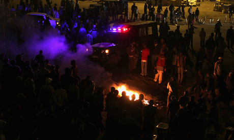 The scene of the explosion near a bus station in the Kenyan capital, Nairobi